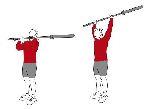 Komplexe Grundübungen - Schulterdrücken Überkopfdrücken Ausführung